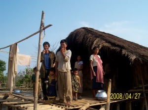 A Karbi raised house in Western Karbi Anglong, Assam, NE India