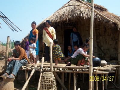 An impoverished Karbi family in inner KA